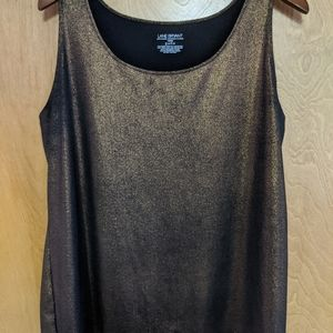 Lane Bryant Brown/Gold tank top